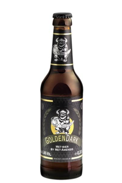 """Flasche Metbier - Honigbier """"GoldenDark"""" 6,4 % vol. 330 ml"""