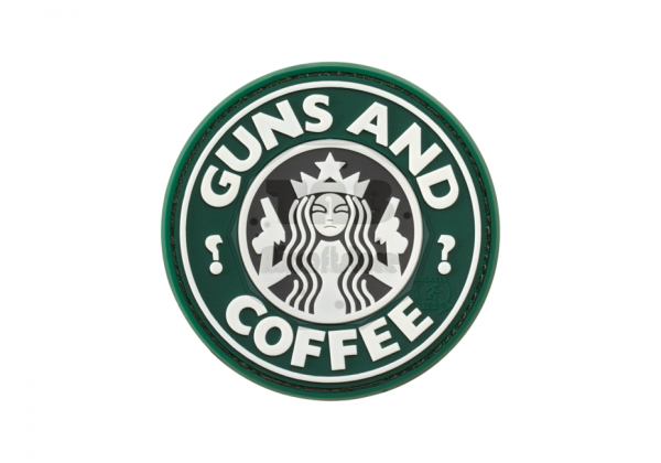 Guns and Coffee Rubber Patch Color (JTG)