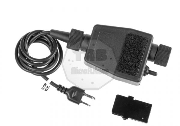 zTEA PTT ICOM Connector Black (Z-Tactical)