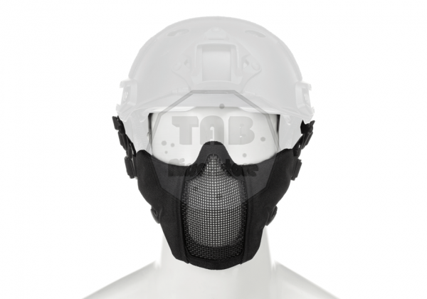 Mk.II Steel Half Face Mask FAST Version Black (Invader Gear)