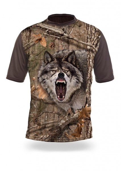 Wolf 3D T-Shirt Kurzarm (Hillman)