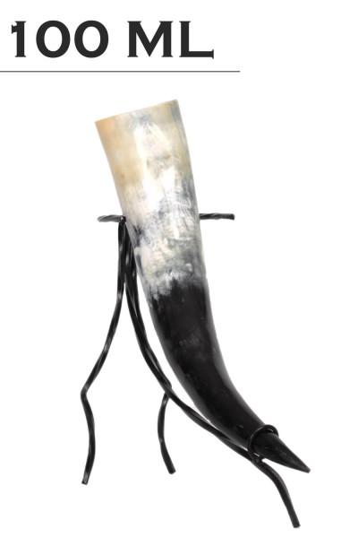 Trinkhorn / echtes Horn geschliffen, poliert, lebensmittelecht lackiert, Methorn