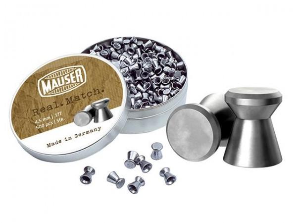 Mauser Real Match Diabolos glatt Kal. 4,5mm, 500er Dose