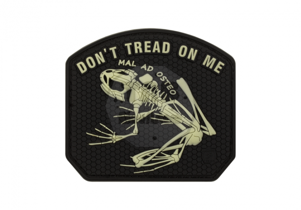 Don´t Thread on me Frog Rubber Patch Glow in the Dark (JTG)