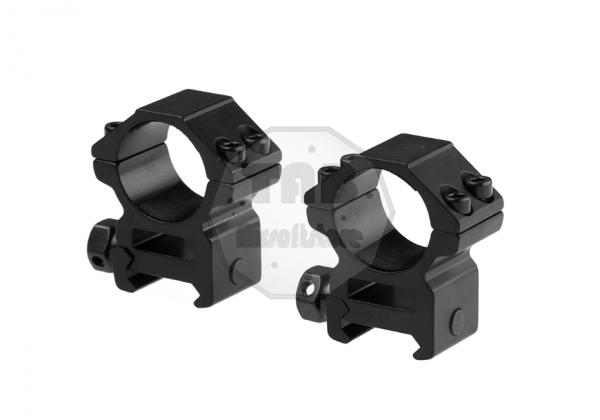 25.4mm Medium Type Mount Rings Black (Pirate Arms)