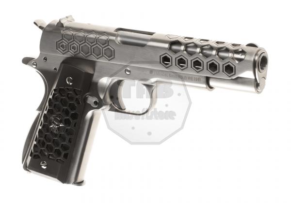 M1911 Hex Cut Full Metal GBB Silver (WE)