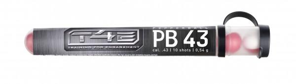 T4E Defense PEB 43, cal. .43, 10 Stk Pfefferkugeln