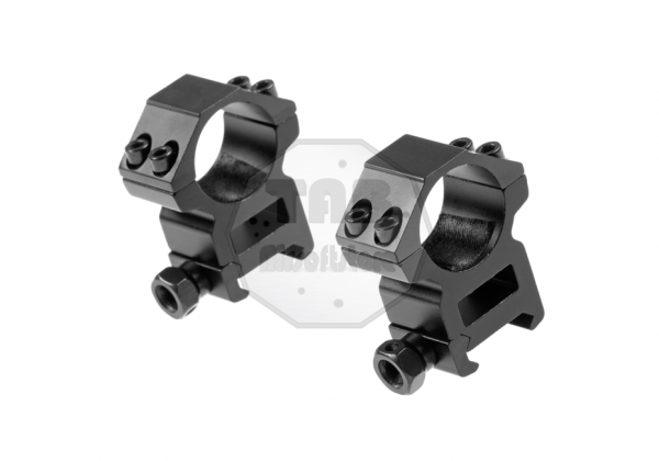 25.4mm High Type Mount Rings Black (Pirate Arms)