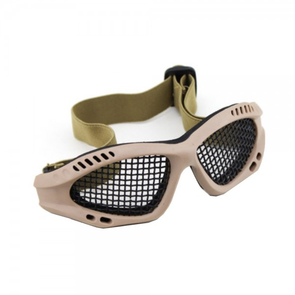 Tactical Goggles with Steel Mesh Tan (Royal)