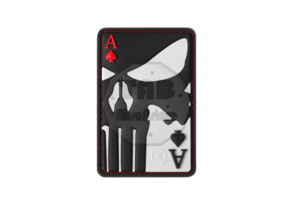 Punisher Ace of Spades Rubber Patch Color (JTG)