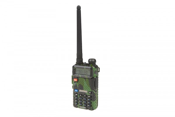 Manual Dual Band Baofeng UV-5R Radio - Short Battery (VHF/UHF) - Camo