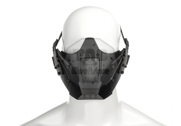 Warrior Steel Half Face Mask Black (Pirate Arms)