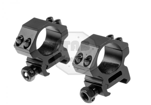 25.4mm Low Type Mount Rings Black (Pirate Arms)