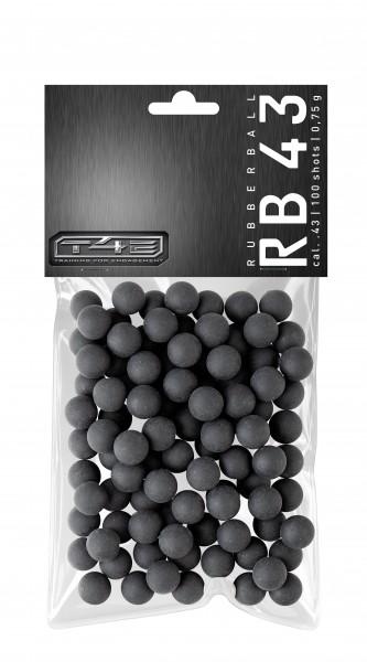 T4E Practice RUB 43 cal. 43, 100 Stk., Gummikugeln12,5