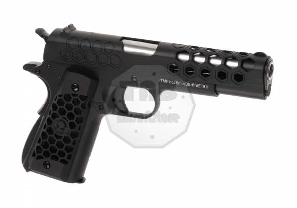 M1911 Hex Cut Full Metal GBB Black (WE)