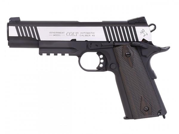 Colt 1911 Railgun Bicolor Black CO2 BB -F- 6mm (KWC)