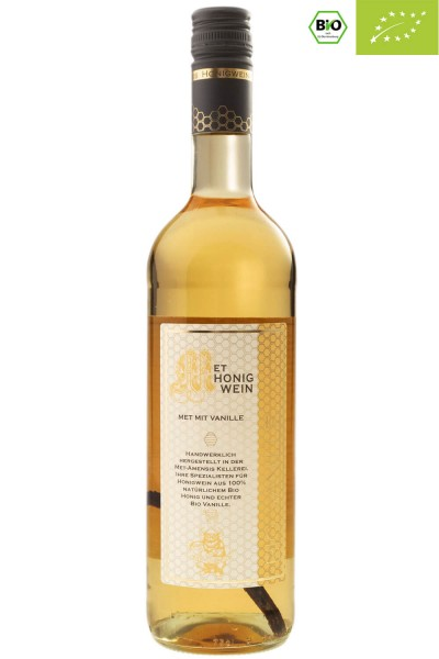 Flasche Vanillemet / Bio Honigwein mit Vanilleschote, 11% vol. / 750 ml