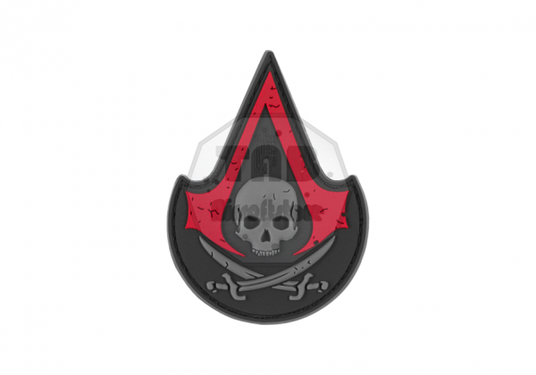 Assassins Skull Rubber Patch Blackmedic (JTG)